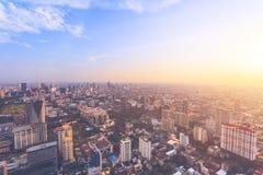 La vue panoramique renversante de Bangkok, Thaïlande image stock