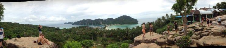 La vue la plus élevée à l'île de pp Photographie stock