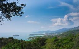 La vue la plus belle du golfe de Thaïlande images libres de droits