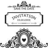 La vue pour l'invitation, mariage, sauvent le vecteur de date Photo stock