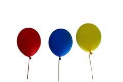 La vue, rendent des ballons à air ou des boules gonflables en caoutchouc transparents brillants de couleur Photographie stock libre de droits