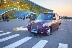 La vue scénique dans le stationnement d'aéroport Photo libre de droits