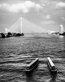 Le fleuve Chao Praya à Bangkok, Thaïlande Photo stock