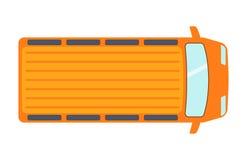 La vue supérieure aérienne sur le transport d'automobile coloré de collecte de jouet de voiture et le transport de roue conçoiven illustration libre de droits