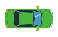 La vue supérieure aérienne sur le transport d'automobile coloré de jouet de voiture et le transport de roue conçoivent le véhicul illustration de vecteur