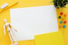 La vue supérieure de l'art d'artiste assure le fond Copiez l'espace Image libre de droits