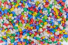 La vue supérieure de plan rapproché du caillou lapide coloré images libres de droits
