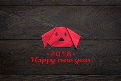 La vue supérieure a tiré année chinoise de décoration de disposition de la nouvelle et des vacances lunaires Photographie stock