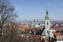 La vue de Bratislava, Slovaquie Photos stock