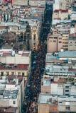 La vue sur la foule au centre historique de Mexico Images libres de droits