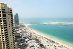 La vue sur la construction de l'oeil de Dubaï de 210 mètres Photographie stock