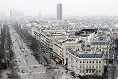 La vue sur Paris, Les mâche Elysees Photographie stock libre de droits