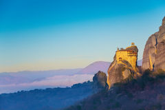 La vue sur St Nicholas Anapausas Monastery Photos libres de droits