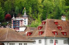 La vue sur la vieille ville de Berne Images stock