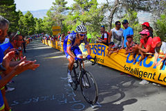 La Vuelta España Cycle Race Quickstep Floors Stock Images