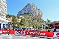 La Vuelta España Under The Rock Of Calpe Stock Photography