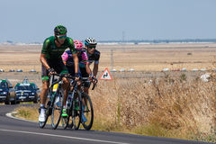 La Vuelta - Spanien Etapp 5 i det Cadiz landskapet 26th Augusti 2015 Royaltyfri Foto