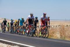 La Vuelta - Spanien Etapp 5 i det Cadiz landskapet 26th Augusti 2015 Arkivbilder