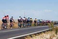 La Vuelta - Spanien Etapp 5 i det Cadiz landskapet 26th Augusti 2015 Royaltyfria Bilder