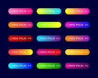 La web abotona diseño plano con pendiente de moda colorida libre illustration