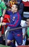 La Xavi Hernandezs FC Barcelone V Corogne Liga - Spanien Lizenzfreies Stockbild