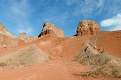 La Yesera地质结构,干燥小河,萨尔塔,阿根廷 免版税库存照片
