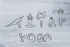 La yoga inspiró el ejemplo, el cuerpo de la mente y el alma Foto de archivo libre de regalías