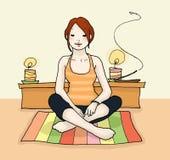 La yoga se relaja Imagen de archivo