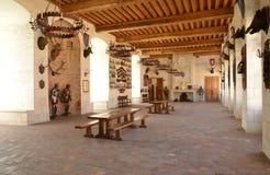 La Yonne, le château pittoresque du saint Fargeau Photographie stock libre de droits