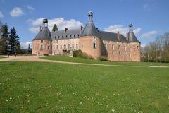 La Yonne, le château pittoresque du saint Fargeau Image stock