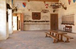La Yonne, le château pittoresque du saint Fargeau photographie stock