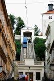 La Zagreb funicular es una de muchas atracciones turísticas en Zagre imágenes de archivo libres de regalías