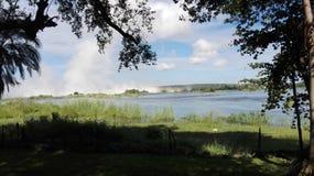 La Zambie de la rivière Zambesi Livingstone Image libre de droits