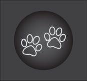 La zampa animale stampa le icone, icona di web Tasto nero Immagine Stock Libera da Diritti