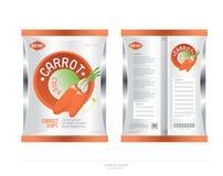 La zanahoria vegetariana salta diseño de paquete Imágenes de archivo libres de regalías