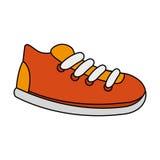 la zapatilla de deporte calza imagen del icono libre illustration