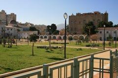 城堡从事园艺la zisa 免版税库存照片