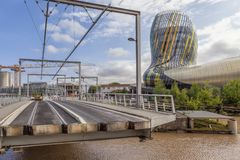 La zitieren du Vin im Bordeaux, Frankreich Lizenzfreie Stockfotos