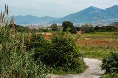 La zona circostante di Pompei Fotografie Stock