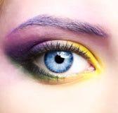 La zona del ojo de la mujer compone Foto de archivo libre de regalías