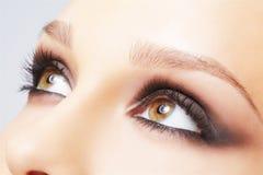 La zona dell'occhio compone Fotografia Stock