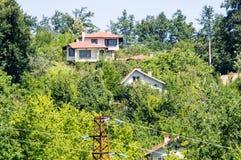 La zona della villa nel villaggio di Oreshak Bulgaria Immagine Stock