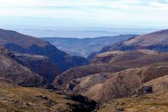 La zona di montagna desolata asciutta Immagini Stock Libere da Diritti