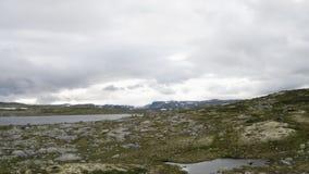 La zona di montagna di Hardangervidda stock footage