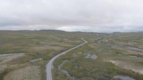 La zona di montagna di Hardangervidda archivi video