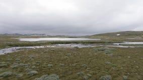 La zona di montagna di Hardangervidda video d archivio
