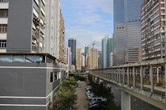 la zona industriale al Kwai Chung immagini stock libere da diritti