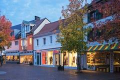 La zona peatonal en Buehl Imágenes de archivo libres de regalías