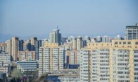 La zona residenziale ad alta densità, Pechino Fotografia Stock