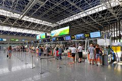 La zone d'accueil est l'aéroport de ville de Sotchi Photographie stock
